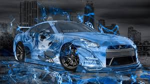 blue nissan gtr wallpaper nissan gtr r35 jdm anime aerography city car 2015 el tony