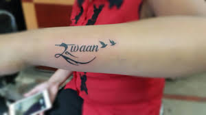 name on left forearm by kdz tattoos