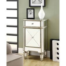 Nightstands With Mirrored Drawers Bedroom Nightstand Occasional Tables Round End With Storage