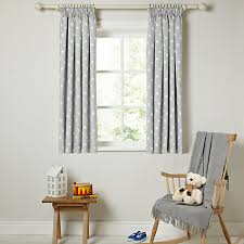 Lined Grey Curtains Buy Little Home At John Lewis Star Pencil Pleat Blackout Lined