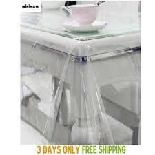clear vinyl table protector home basic clear vinyl oblong 60x90 heavy duty plastic pvc table