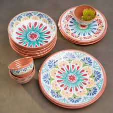mistana adkins 16 melamine dinnerware set reviews wayfair