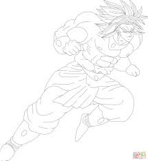 broly from mugen coloring page free printable coloring pages