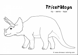 spectacular triceratops dinosaur coloring pages printable with