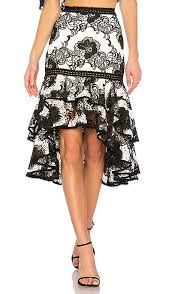 lace skirt halima lace skirt in black white macrame revolve