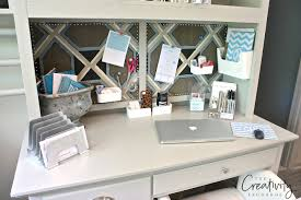 Desk Top Organizer Hutch by Creative Office And Desk Organizing Solutions