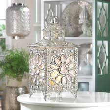 lamp centerpieces amazon com elegant jewel silver sparkle decorative candle lantern