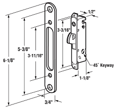 Patio Door Mortise Lock Replacement Fpl 3 45 S Sliding Glass Door Replacement Mortise Lock With