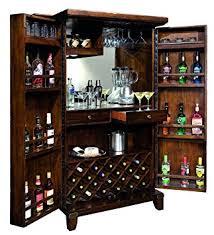 bar cabinet furniture amazon com rogue valley wine bar cabinet kitchen dining