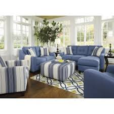 blue living room set aldie nuvella blue living room set from ashley coleman furniture
