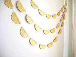 gold glitter garland gold glitter scalloped garland