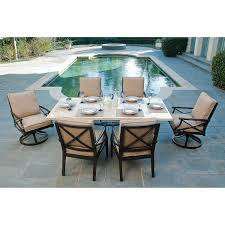 Patio Furniture Covers Costco - travers 7 piece patio dining set