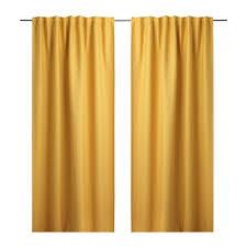 Yellow Curtain Vilborg Curtains 1 Pair Ikea