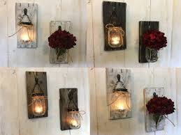 candle wall sconces pottery barn farmhouse holders jar diy walmart
