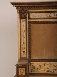 Tuscan Furniture Collection Painted Antique Italian Neoclassical Tuscan Carved Hall Storage