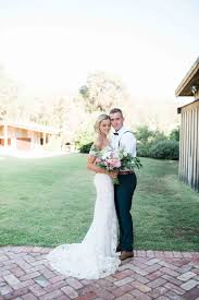 romantic mount helena backyard wedding polka dot bride