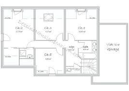 plan etage 4 chambres plan maison une chambre plan maison 4 chambres etage gratuit