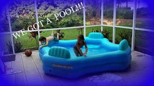 Intex Swim Center Family Pool We Got A Pool Youtube