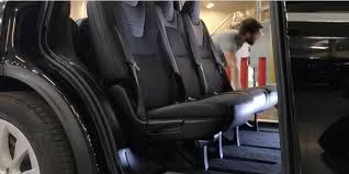 suv tesla inside tesla demonstrates its new 7 seat model x with fold flat second