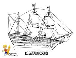 mayflower thanksgiving coloring pages