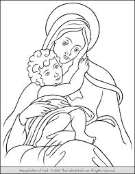 mother archives catholic kid catholic coloring pages