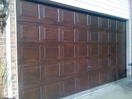 Painting Aluminum Garage Doors by Every Spare Moment Time Underestimated Faux Wood Garage Doors