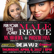 porsha porsche porsche foxx and moquick exotic male revue tickets thu apr 6