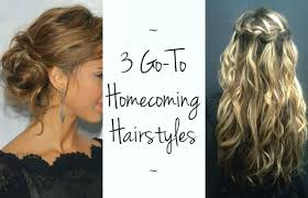 on the go hairstyles 3 go to homecoming hairstyles chelsea crockett