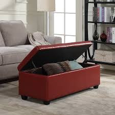 Ottoman Red by Amazon Com Belleze Red Ottoman Bench Top Storage Living Room Bed