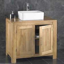 Free Standing Wooden Bathroom Furniture Freestanding Solid Oak Door Cabinet Sink Bathroom Vanity