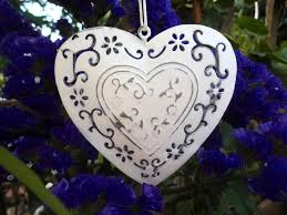 new hanging heart decorations vintage style heart shabby chic