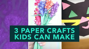 how to make paper crafts for kids easy step by step youtube