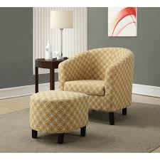 Accent Chair Monarch Accent Chair 2pcs Set Burnt Yellow