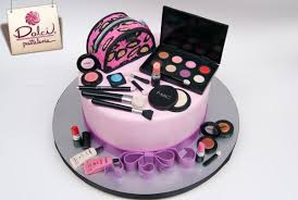 mac cosmetics cake by dolce pasteleria