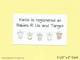 baby registry cards baby shower gift registry cards baby shower invitation