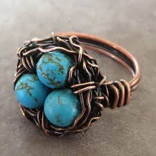 jewelry wire rings images Best wire bird nest jewelry products on wanelo jpg