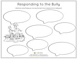 bullying worksheets