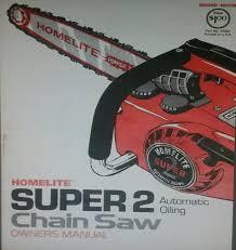 homelite super 2 motosierra propietario y piezas manuales 2