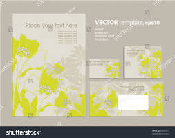 Business Card Invitation Vector Template Folder Business Card Invitation Stock Vector