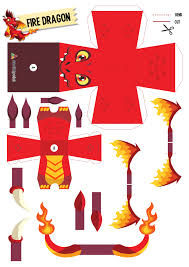 paper toy firedragon diy pinterest paper toys toy and dragons