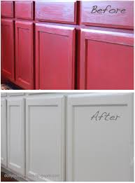 Painting Over Polyurethane Cabinets by Do It Yourself Divas Diiy How To Paint Over Red Painted Cabinets