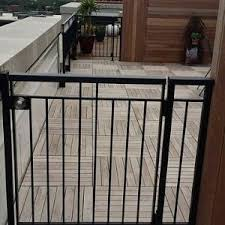 chicago metal deck railing transitional with wooden designs