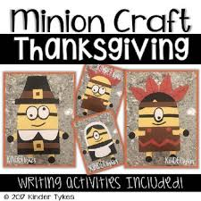 thanksgiving minion craft by kinder tykes teachers pay teachers