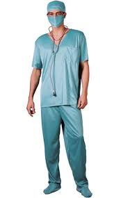 surgeon mask mens fancy dress doctors medical uniform adults