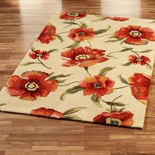 Floral Area Rug Orange Floral Area Rug Best Decor Things