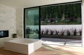 modern indoor planters bathroom modern with gravel patio concrete