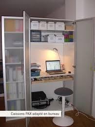 bureau dans une armoire gain de place créez votre bureau dans une armoire cupboard ikea