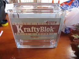 Decorate a glass block for holidays and special occasions