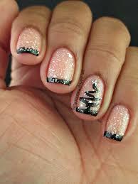 spellbound nails pish salver drink me black tips white glitter