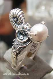 marine jewelry reef jewelry of sterling silver and pearl are like miniature